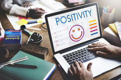 Positives denkendes Glück-Lebensstil-Konzept lizenzfreie stockfotos