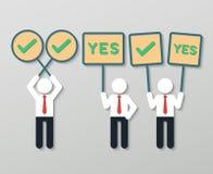 Positives denkendes Teamwork-Geschäftskonzept Stockbild