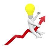Positives Diagramm Stockfotografie