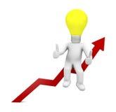 Positives Diagramm Stockfotos