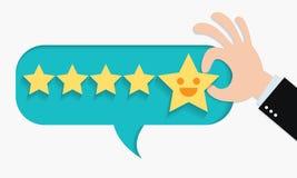 Positives Feedback vom Kundenbericht stockfotos