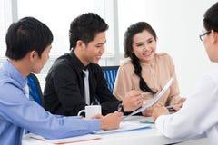 Positives Geschäft Lizenzfreies Stockfoto