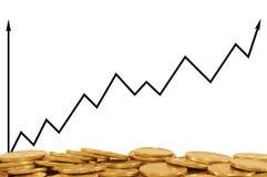 Positives Geschäftsdiagramm Lizenzfreie Stockfotografie