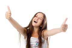 Positives Mädchen Stockfotografie