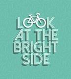 Positives Retro- Konzept des Fahrradmotivations-Fahrrades Lizenzfreie Stockfotografie