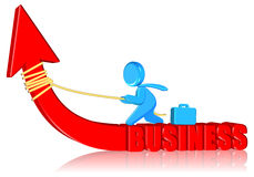 Positivity Business. Three dimension style and High Quality Image Royalty Free Stock Photos