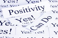Positivity Concept in Words stock image