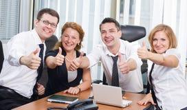 Positivity expresso da equipe do negócio foto de stock royalty free