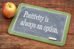 Positivity is always an option Stock Image
