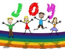 Positivo de Joy Shows Fun Toddlers And de los niños Imagen de archivo libre de regalías