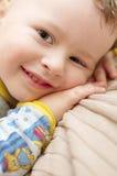Positivo de sorriso da criança Fotografia de Stock