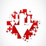 Positivo del icono de la transferencia directa Imagen de archivo libre de regalías