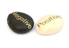 Positivo e negativo Fotografia de Stock Royalty Free
