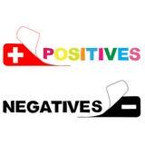 positivo Negativo Fotografia de Stock Royalty Free