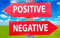Positivo o negativa Fotografía de archivo libre de regalías