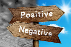 Positivo ou negativo Fotografia de Stock