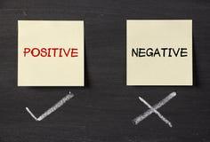 Positivo pero no negativo Fotografía de archivo libre de regalías