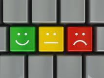 Positivo, persona neutrale e negazione della tastiera Fotografie Stock