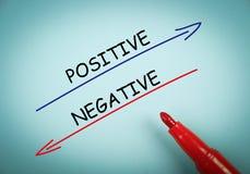 Positivo y negativa imágenes de archivo libres de regalías