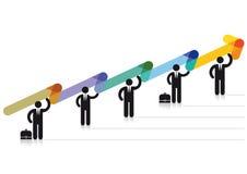 Positivt affärsjämviktsdiagram Arkivbild