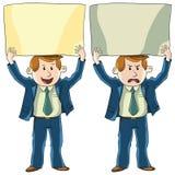 Positivt och negativt meddelande stock illustrationer