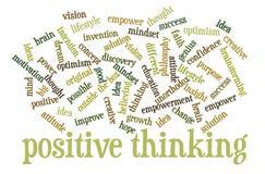 Positivt tänkande ordmoln Fotografering för Bildbyråer