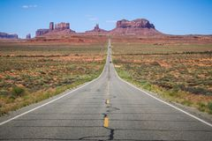 Posizione, artista Point Monument Valley - Utah U.S.A. Immagine Stock