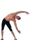Posizione d'allungamento relativa alla ginnastica dell'uomo Immagini Stock Libere da Diritti
