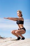 Posizione dei pilates o di yoga Fotografie Stock Libere da Diritti