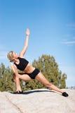 Posizione dei pilates o di yoga Fotografia Stock Libera da Diritti