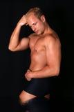 Posizione del Bodybuilder Immagine Stock Libera da Diritti