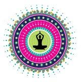 Posizione del loto di yoga Fotografia Stock Libera da Diritti