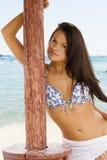 Posizione del modello della spiaggia fotografia stock libera da diritti