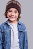Posizione del ragazzo di modo Fotografia Stock Libera da Diritti