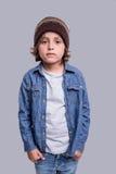 Posizione del ragazzo di modo Fotografie Stock