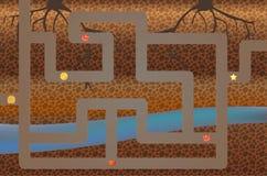 posizione del video gioco di 8 bit, galleria. Il gioco Immagine Stock