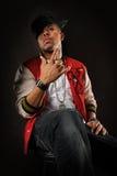 Posizione dell'uomo di Hip Hop Immagini Stock Libere da Diritti