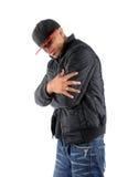 Posizione dell'uomo di Hip Hop Fotografia Stock