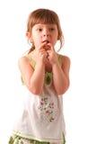 Posizione della bambina fotografie stock