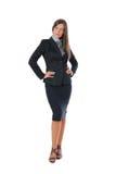 Posizione della donna di affari Fotografia Stock