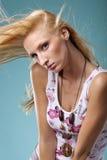 Posizione della giovane donna Fotografie Stock