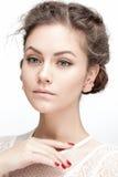 Posizione della giovane donna Fotografia Stock