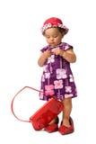 Posizione della neonata di modo Fotografia Stock Libera da Diritti