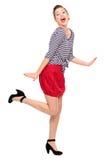 Posizione della ragazza Pin-In su Fotografia Stock