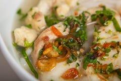 Posizione di Banh Canh Ca - minestra di pasta spessa vietnamita fotografia stock libera da diritti