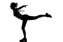 Posizione di forma fisica di allenamento della donna Immagini Stock Libere da Diritti