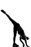 Posizione di forma fisica di allenamento della donna Fotografie Stock