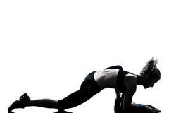 Posizione di forma fisica di allenamento della donna Immagine Stock Libera da Diritti