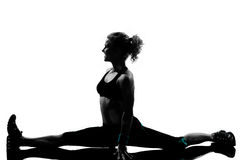 Posizione di forma fisica di allenamento della donna Fotografie Stock Libere da Diritti