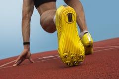Posizione di inizio dello sprinter immagini stock